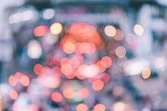 Движение нерезкости и свет города Стоковая Фотография