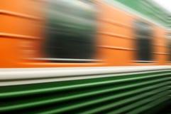 движение нерезкости проходя поезд Стоковые Изображения