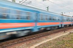 движение нерезкости проходя поезд Стоковые Фото