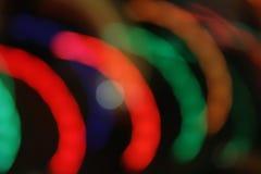 Движение нерезкости светов в полуокружностях Стоковая Фотография RF
