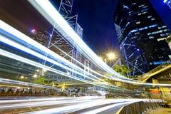 Движение ночи в городе Стоковое Изображение RF