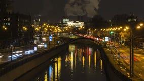Движение ночи на городской магистрали Стоковая Фотография RF