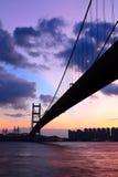 движение ночи хайвея моста Стоковое Фото