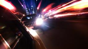 Движение Нью-Йорка изнутри такси акции видеоматериалы