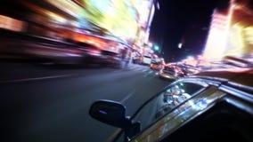 Движение Нью-Йорка изнутри такси сток-видео