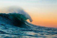 Движение океана в утре стоковое изображение