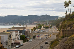Движение Санта-Моника шоссе 1, ЛА Стоковое Изображение