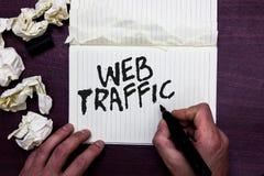 Движение сети текста сочинительства слова Концепция дела для количества данных посланных и полученных посетителями к человеку веб стоковое изображение rf