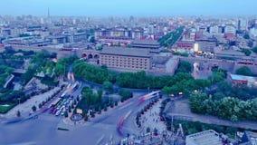 Движение Сиань вечером, Китай сток-видео