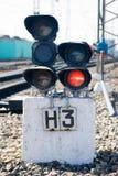 движение сигнала узкоколейной железной дороги Стоковые Изображения RF