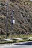 движение скорости радиолокатора полиций хайвея камеры Полицейский радар Стоковые Изображения