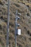 движение скорости радиолокатора полиций хайвея камеры Полицейский радар Стоковые Фото