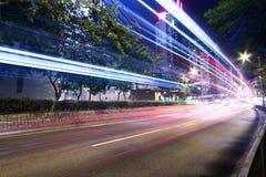 движение скоростного шоссе города самомоднейшее урбанское Стоковая Фотография