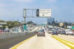 Движение скоростного шоссе Лос-Анджелеса Стоковые Изображения RF