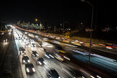 Движение скоростного шоссе Сиэтл на часе пик Стоковые Фотографии RF