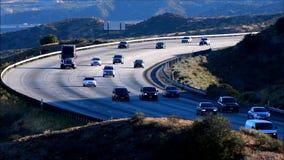 Движение скоростного шоссе сток-видео