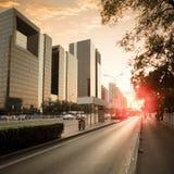 движение сумрака города Стоковая Фотография RF