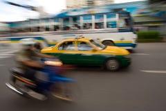 движение таксомотора города быстрое Стоковые Фотографии RF