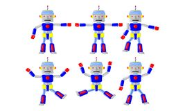 Движение тела робота иллюстрация вектора