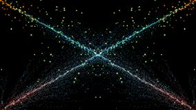 Движение фантазии частицы, абстрактная предпосылка движения фантазии, shi Стоковые Изображения
