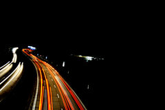движение хайвея кривого autobahn Стоковое фото RF
