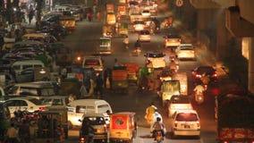 Движение часа пик на зоне дороги Firozpur Лахора видеоматериал