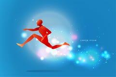 Движение людей силуэт скача человека соответствующая польза Стоковое Изображение RF