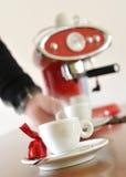 движение espresso кофейной чашки Стоковые Фото