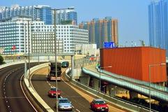 движение Hong Kong скоростного шоссе Стоковая Фотография