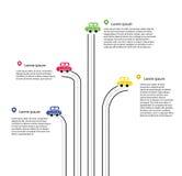 Движение Infographic цвета Стоковое Фото