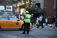 ДВИЖЕНИЕ NYPD СРАЗУ НА МАНХАТТАНЕ NYC Стоковые Изображения RF