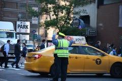 ДВИЖЕНИЕ NYPD СРАЗУ НА МАНХАТТАНЕ NYC Стоковое Изображение