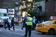 ДВИЖЕНИЕ NYPD СРАЗУ НА МАНХАТТАНЕ NYC Стоковое фото RF