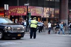 ДВИЖЕНИЕ NYPD СРАЗУ НА МАНХАТТАНЕ NYC Стоковые Изображения