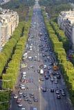движение paris Стоковая Фотография