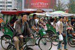 движение pedicabs света фарфора chengdu Стоковое Изображение RF