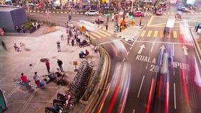 Движение Timelapse занятого соединения на Bukit Bintang Куалае-Лумпур, Малайзии сток-видео