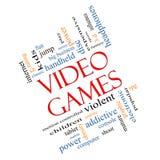 Двинутая под углом концепция облака слова видеоигр бесплатная иллюстрация