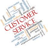 Двинутая под углом концепция облака слова обслуживания клиента иллюстрация штока