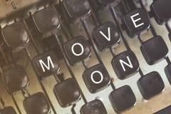 Двиньте дальше Мотивационное сообщение Стоковое Изображение RF