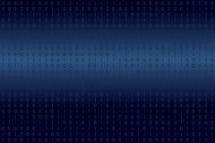 Двоичные данные цифров на голубой предпосылке Современный, наука, технология, компьютер вируса, рубя, сеть в концепциях виртуальн бесплатная иллюстрация