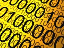 двоичные числа предпосылки Стоковая Фотография
