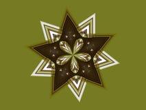 Двойная звезда и цветок Иллюстрация штока