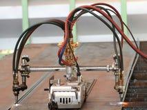 Двойная машина кислородной резки Стоковые Изображения RF