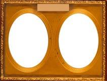 Двойная овальная рамка Стоковые Фотографии RF