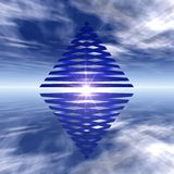 двойная пирамидка Стоковая Фотография