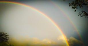 двойная радуга стоковые фотографии rf