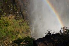 Двойная радуга, Victoria Falls увиденное от замбийской стороны Стоковое Изображение RF