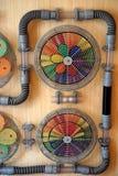 Двойная сеть вентилятора цвета Стоковые Изображения RF