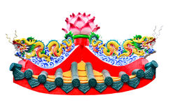Двойная статуя китайского стиля дракона в виске Стоковая Фотография